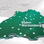3D Karte Badausstellungen Baden Württemberg