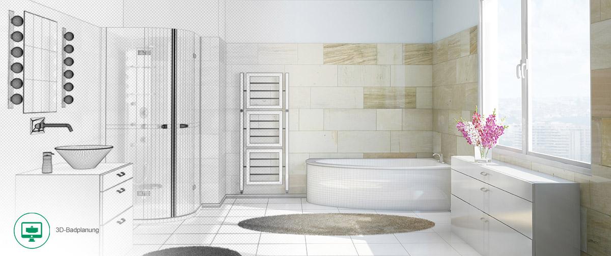 3d badplanung badplanung badeinrichtung 3d visualisierung. Black Bedroom Furniture Sets. Home Design Ideas