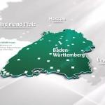 Karte Baden-Württemberg REISSER Ausstellungen
