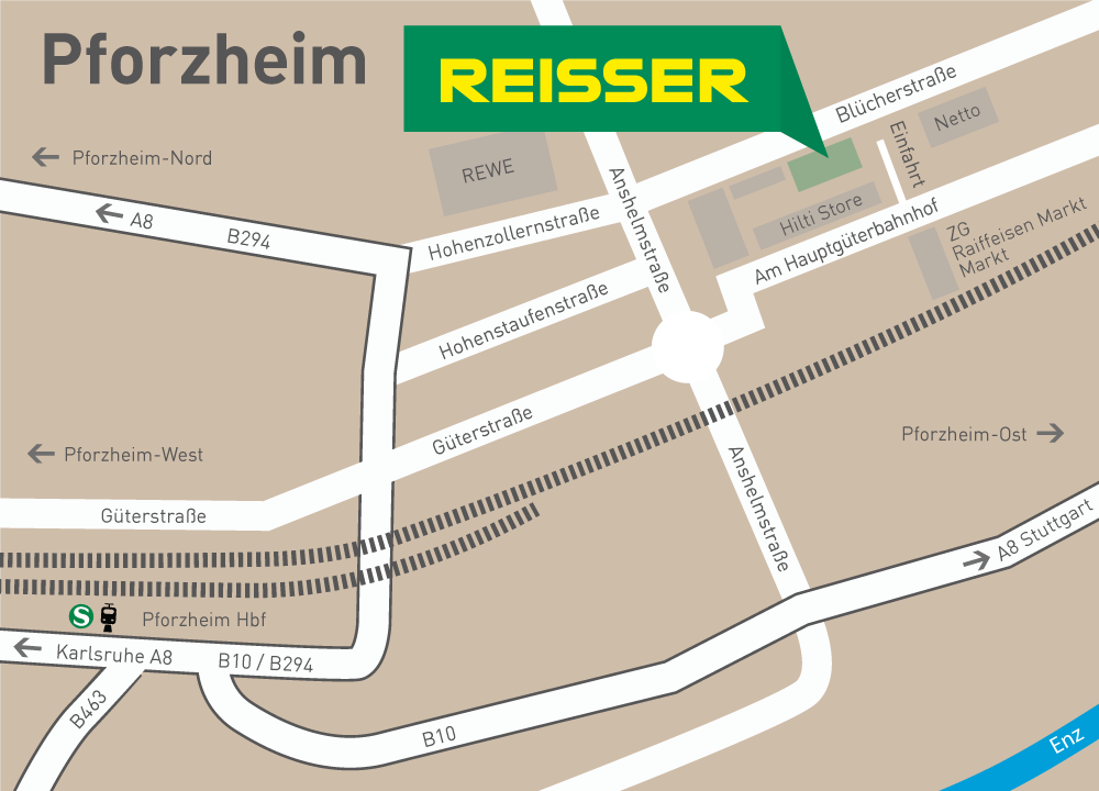 Pforzheim Karte.Fachverkauf Pforzheim Reisser Hat Ihr Bad